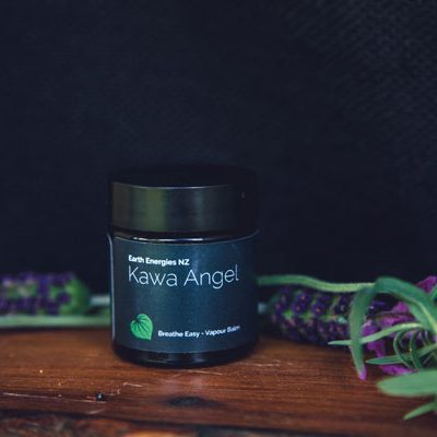 kawa angel product near a lavender tree branch