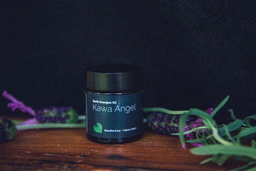 kawa angel product near a lavender tree branch