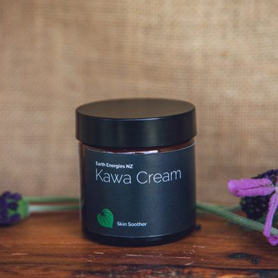 kawa cream product on a table near lavender leaves