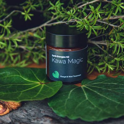 kawa magic product surrounded by leaves